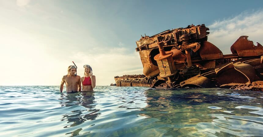 Brisbane Tours - Moreton Island Snorkelling the Wrecks