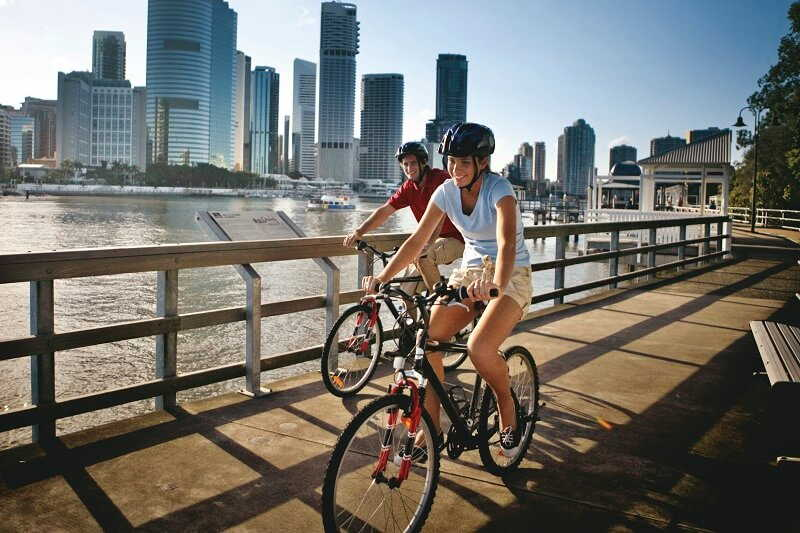 exploring brisbane by bike