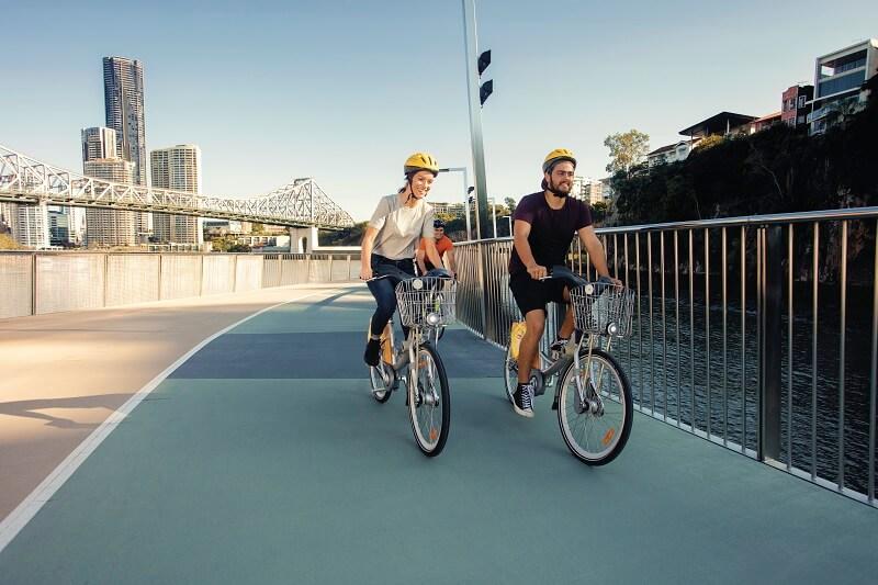 exploring south bank by bike
