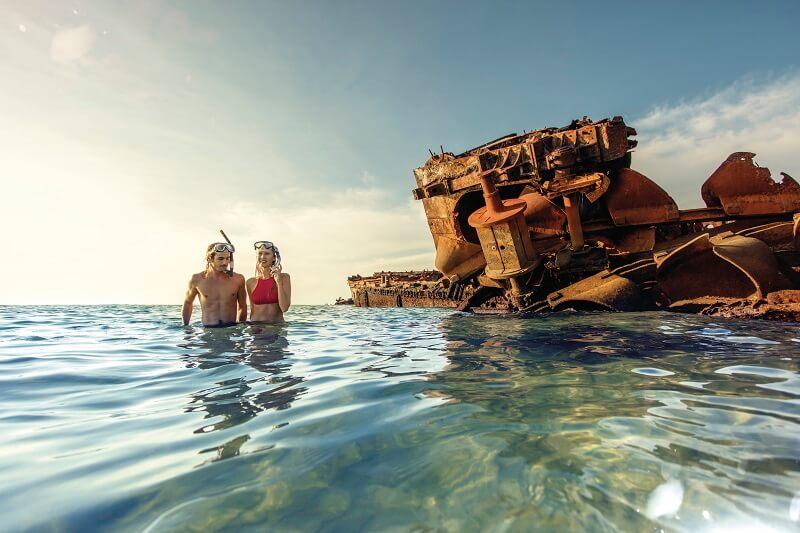 snorkelling at wrecks