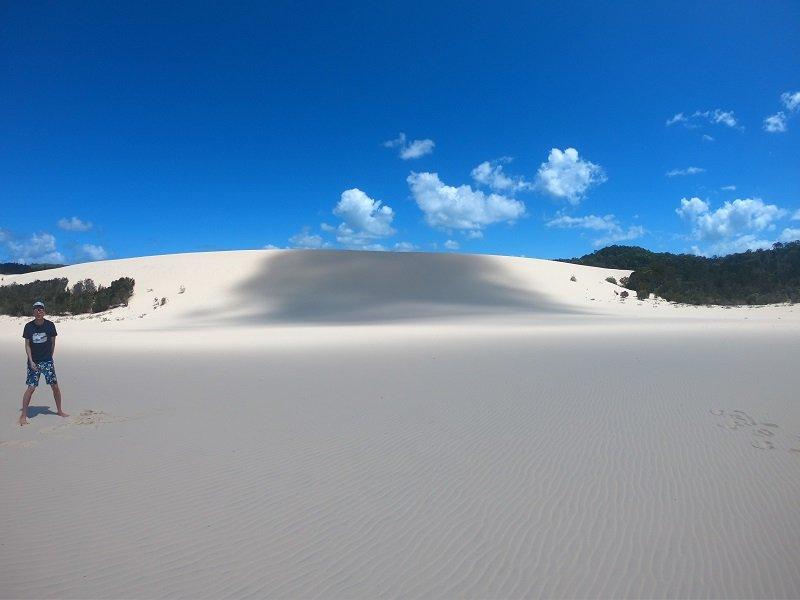 white sand moreton island