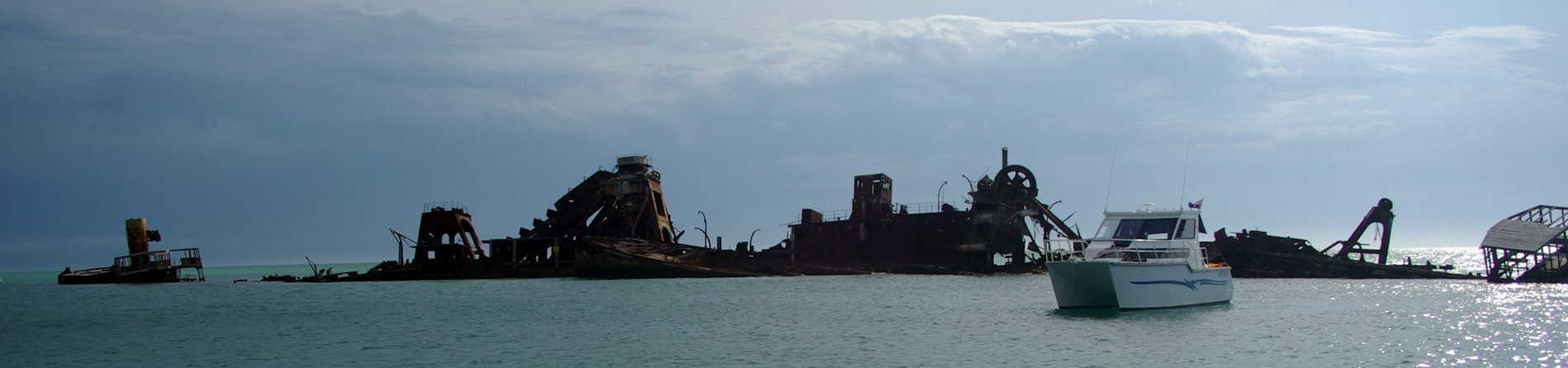 How did the Tangalooma Wrecks get there?